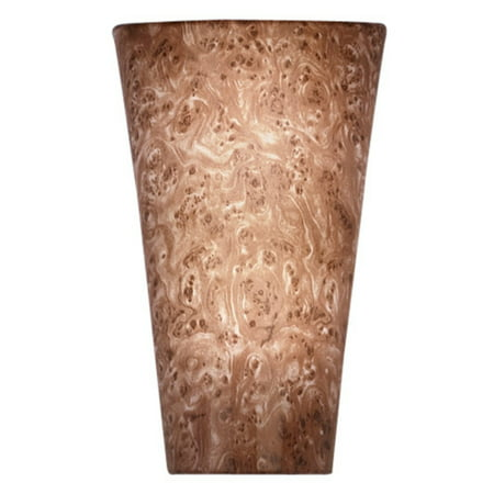 Battery-Operated Vivid Burlwood High Gloss Sconce