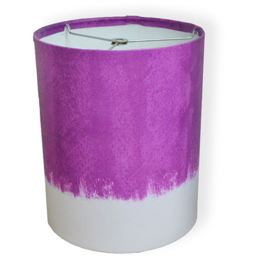 "10"" Drum Lampshade, Pink Purple Watercolor by Pro Tour Memorabilia, LLC"