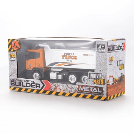 1PCS 1/43 Scale Diecast Metal Car Models Construction Trucks Friction Powered Vehicles - image 1 of 6