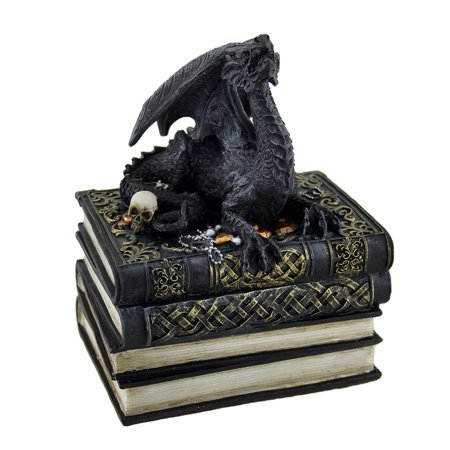 Medieval Dragon on Antique Books Trinket / Stash Box - image 3 of 3