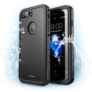 iPhone 8 Plus Case, NexCase Waterproof Full-body Rugged Case with Built-in Screen Protector for Apple iPhone 7 Plus 2016 / iPhone 8 Plus 2017 Release (Black)