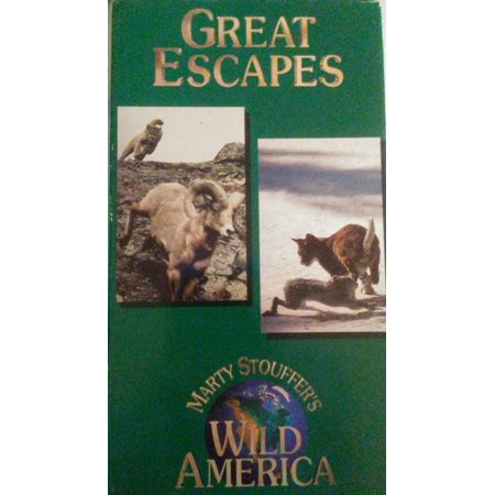 Wild America: Great Escapes by Marty Stouffers VHS ships in 24 (Great Mall Hours Thanksgiving)