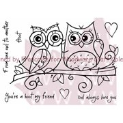 """Woodware Clear Stamps 3.5""""X5.5""""-Owl Love"""