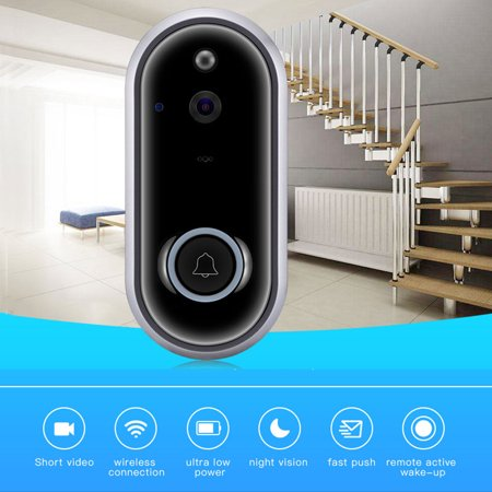 Ring Doorbell HD Wi-Fi Video Doorbell Smart Doorbell Visual Ring Intercom Secure Camera Wireless Grey (Best Ring Video Doorbells)