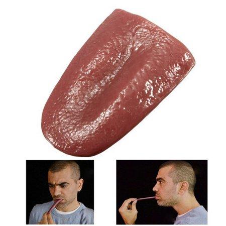 JuDan Halloween Realistic Tongue Gross Jokes Prank Tricks Horrible Magician Prop