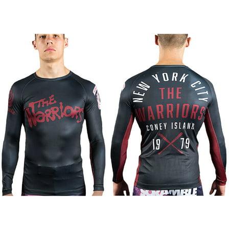 ee7a4d9e ... UPC 619159282542 product image for Scramble The Warriors Official BJJ  Rashguard - Black | upcitemdb.