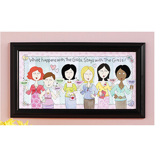 Personalized What Happens with the Girls Print