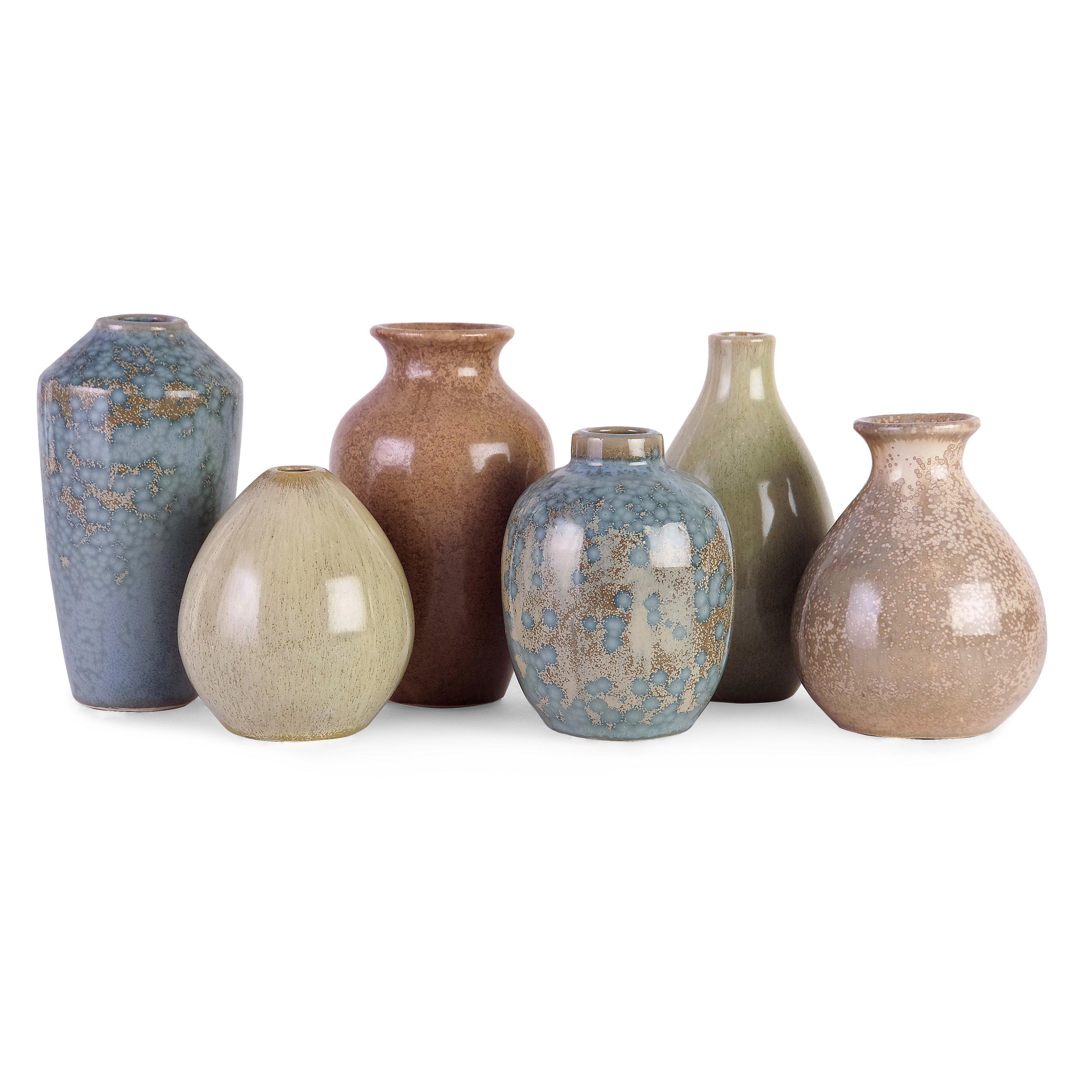 IMAX Corporation Mini Vases (Set of 6)
