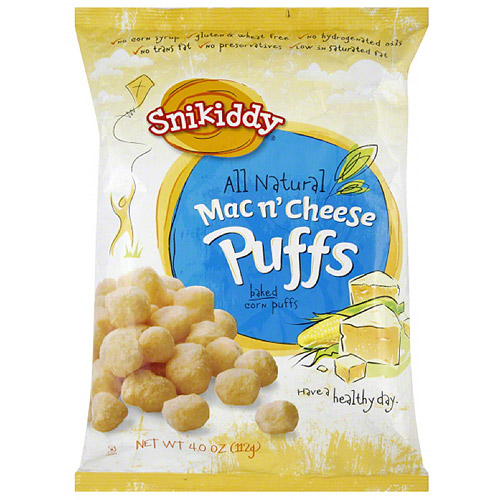 Snikiddy All Natural Mac N Cheese Puffs, 4 oz (Pack of 12)