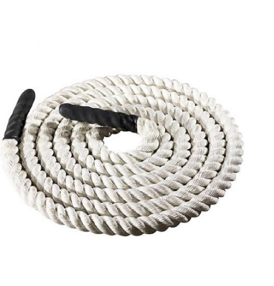 Training Battle Rope 20 FT Pro-Form Max Extreme TAN Fitness Crossfit Wrapped Grips