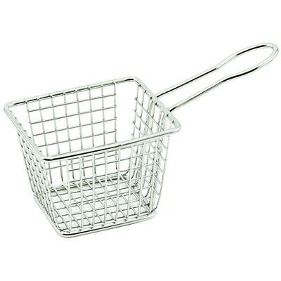 Winco FBM-433T, 4x3x3-Inch Stainless Steel Rectangular Mini Deep Fry Serving Basket