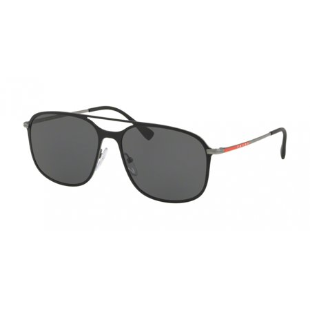 Prada Linea Rossa 53TS Sunglasses DG05S0 Black ()