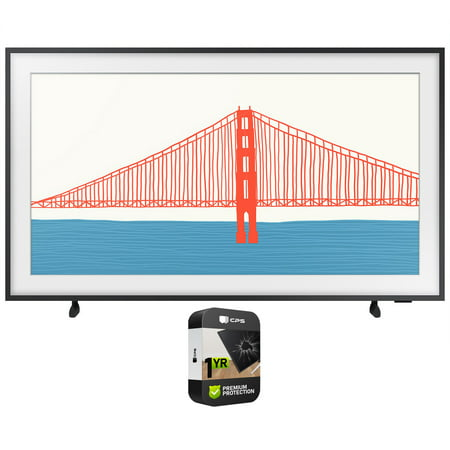 Samsung QN55LS03AA 55 Inch The Frame QLED 4K Smart TV (2021) Bundle with Premium Extended Warranty
