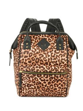 No Boundaries Leopard Pvc Frame Backpack