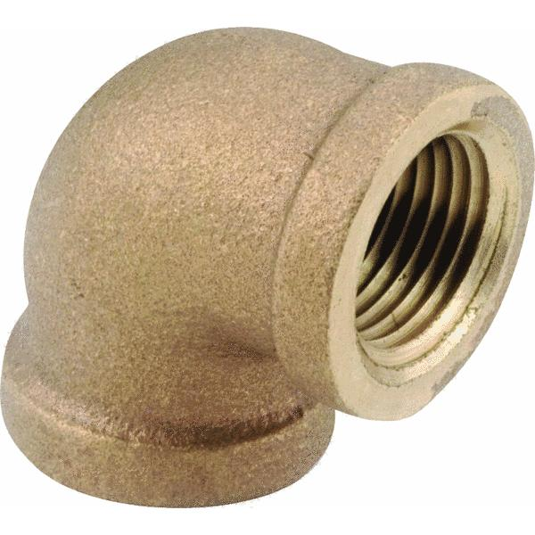 90 degrees Red Brass Threaded Elbow