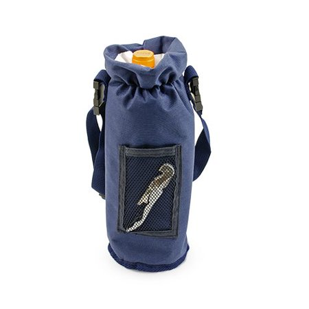 Bottle Carrier, Blue Single Bottle Insulated Waterproof Wine Bottle Carrier (Sold by Case, Pack of 12)