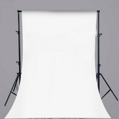 NK HOME Studio Photo Video Photography Backdrops 5x7ft Bright White Solid Color Vinyl Fabric Background Screen - Backdrop Fabric