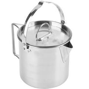 Greensen Picnic pot,Camping Pot,1.2L Outdoors Portable Folding Stainless Steel Kettle Cookware Coffee Tea Picnic Camping Pot