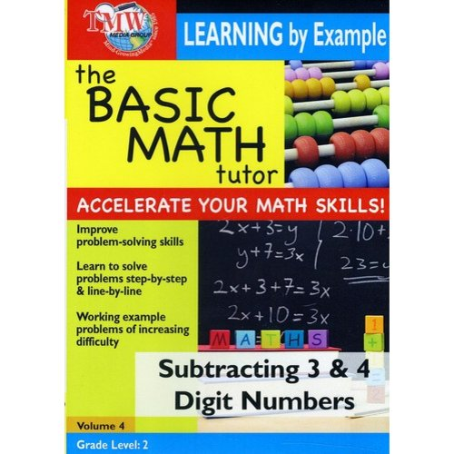 Basic Math Tutor: Subtracting 3 & 4 Digit Numbers by