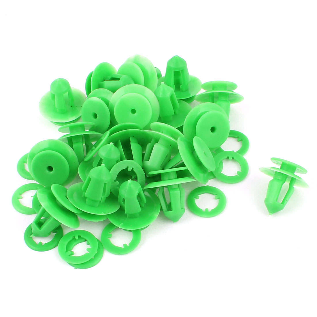 20 PCS 9mm Hole Hood Prop Rod Clip Support Clamp Holder Green for Benz