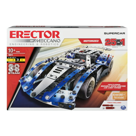 Erector by Meccano SuperCar 25-in-1 STEM Building Kit, 328 Parts](Building Kits)