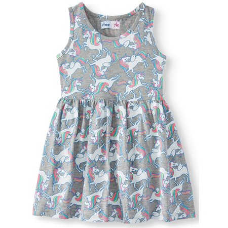 Jersey Fit and Flare Dress (Little Girls & Big Girls) - Little Girl Cowgirl Dresses
