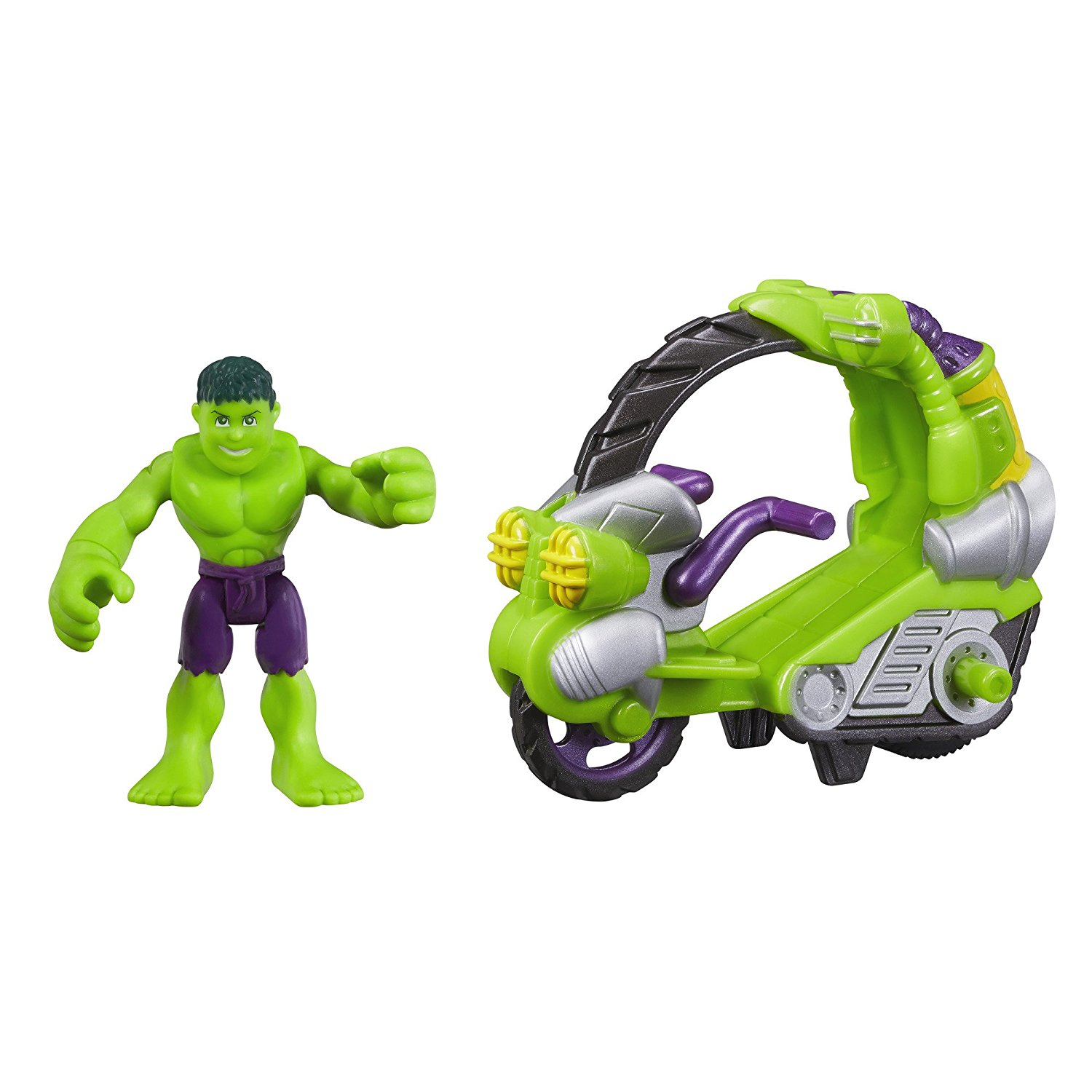 Heroes Marvel Super Hero Adventures Hulk Figure with Tread Racer Vehicle..., By Playskool... by