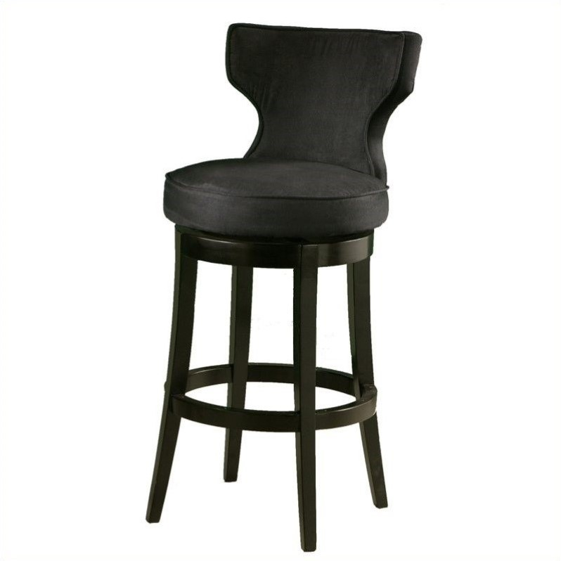 "Pastel Furniture Augusta 26"" Bar Stool in Black by Impacterra"