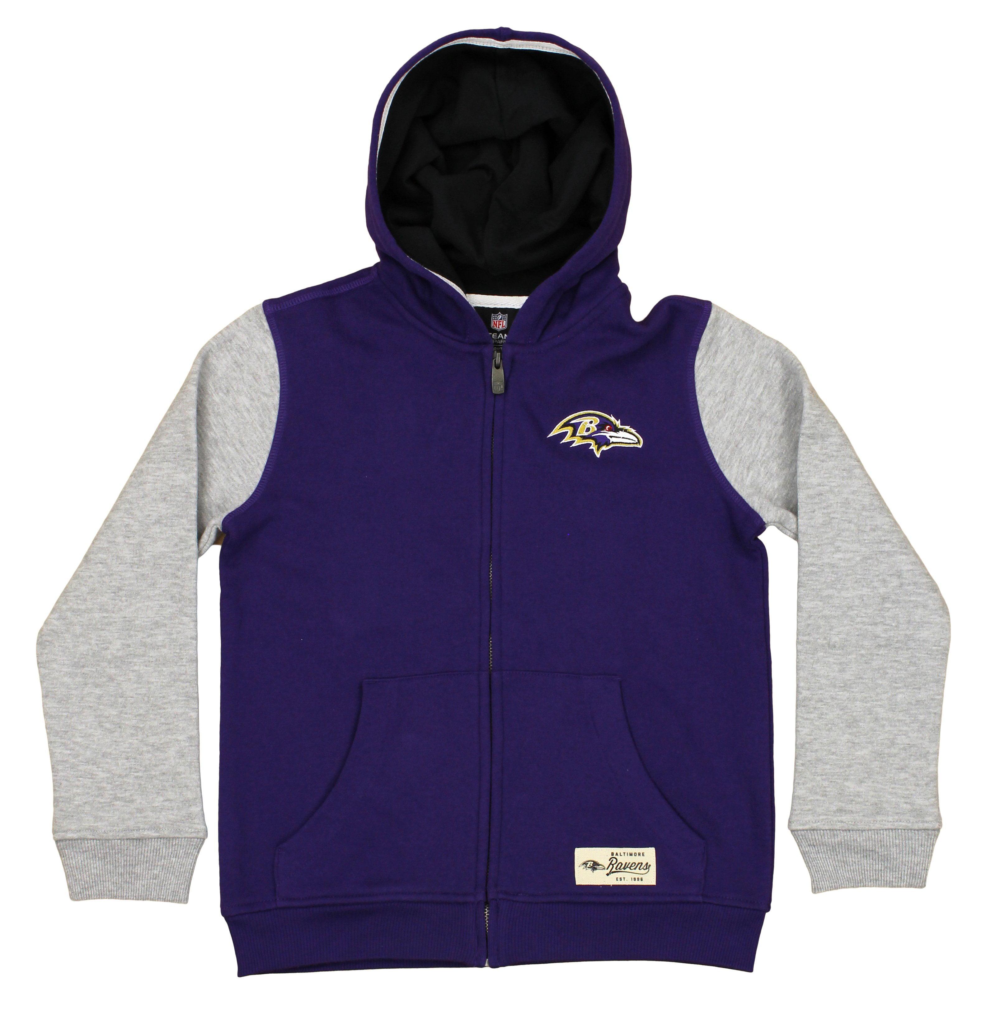 "NFL Youth Baltimore Ravens ""Legacy"" Full Zip Hooded Sweatshirt"