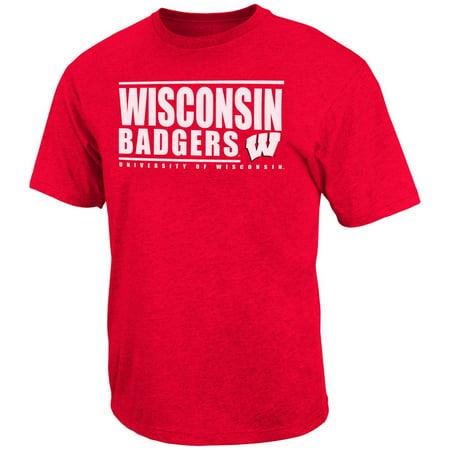 University of wisconsin badgers men 39 s tee shirt circuit for Mens wisconsin badger shirts