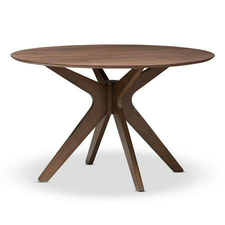 Contemporary Round Dining Room Tables (Baxton Studio Monte Round Dining Table)