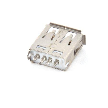 Metal USB 2.0 A Type Female PCB Mount Repair Parts USB Port Jack Connector 34pcs - image 2 de 3
