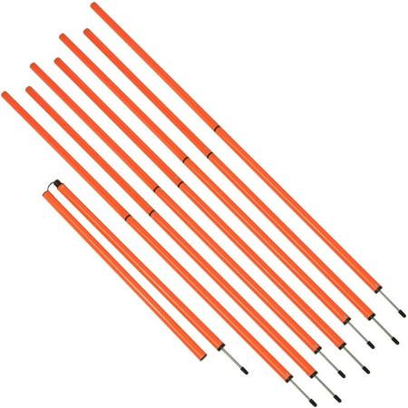 Sports Coaching 6 Agility Training Poles By Trademark Innovations  Orange  Set Of 8