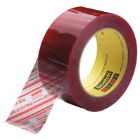 T9023779 Clear/Red 1.9 Mil 2 Inch x 110 yds 3M 3779 Pre-Printed Carton Sealing Tape Made In USA CASE OF 36