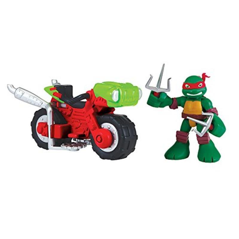 Toys 96754 Teenage Mutant Ninja Turtles Pre-Cool Half Shell Heroes Stealth Cycle with Raphael Vehicle and Figure Playmates