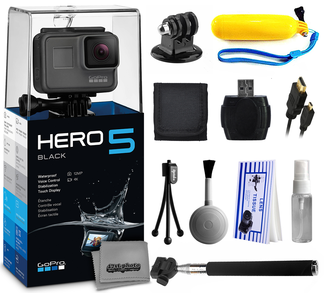 GoPro HERO5 Black CHDHX-501 with Floaty Bobber + Selfie S...