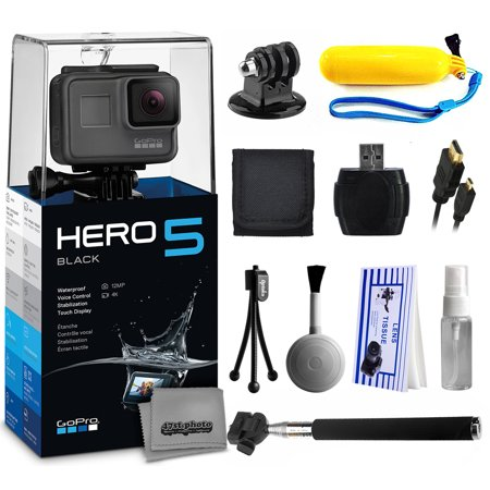gopro hero5 black chdhx 501 with floaty bobber selfie stick hdmi cable. Black Bedroom Furniture Sets. Home Design Ideas