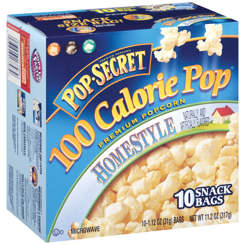 Pop Secret 100 Calorie Pop Homestyle Premium Popcorn, 1.12 oz,/10 ct