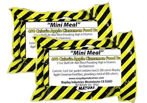 Click here to buy Mayday 400 Calorie Survival Food Bar Emergency Disaster MRE Bug Out (pack of 2).