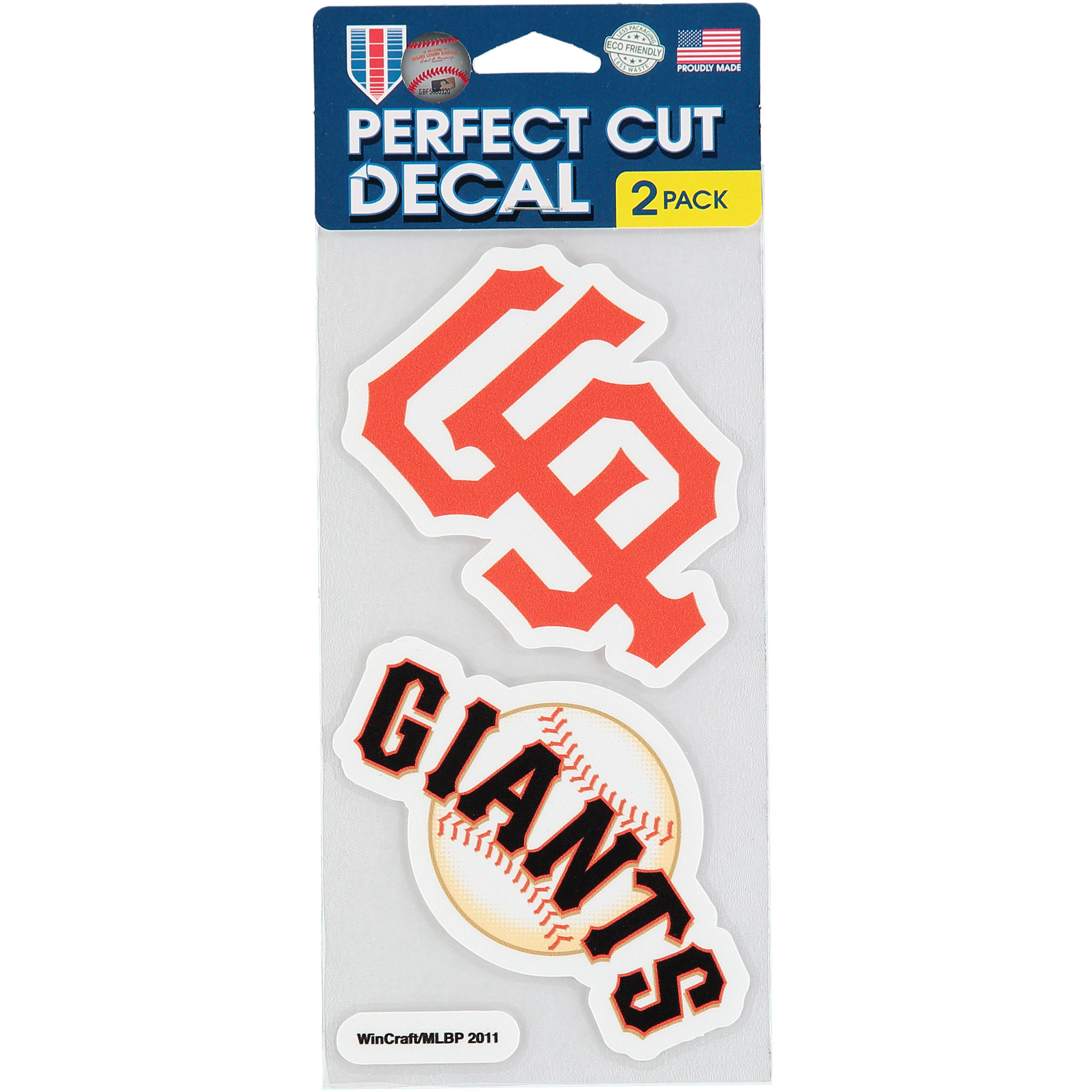 San Francisco Giants 2-Pack 4'' x 4'' Die-Cut Decals - No Size