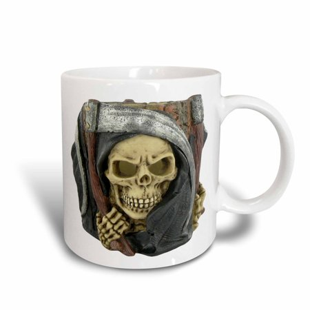 3dRose Halloween Scary Grim Reaper, Ceramic Mug, 15-ounce (Scary Halloween Restaurant Names)