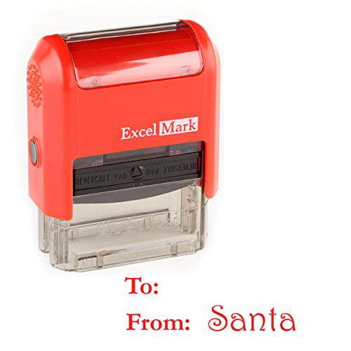 Santa's Signature Gift Tag Rubber Stamp