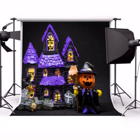 GreenDecor Polyster 5x7ft Photography Background Happy Halloween Photography Backdrop Studio Props - Cute Happy Halloween Background