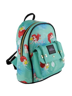 """The Little Mermaid Ariel 10"""" Small Leather Backpack"""