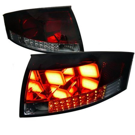 Spec-D Tuning LT-TT99RGLED-V2-APC LED V2 Tail Lights for 99 to 06 Audi TT, Smoke - 10 x 19 x 25 (V2 Tail Boom)
