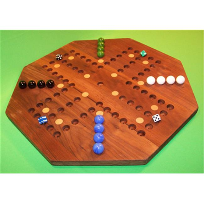 Charlies Woodshop W-1941alt. -3 Wooden Marble Game Board - Black Walnut