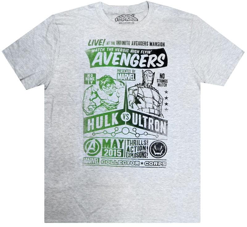 Marvel Avengers Hulk vs. Ultron T-Shirt [Large]