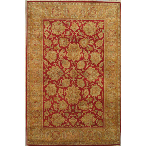 Pasargad Agra Hand-Knotted Red Area Rug