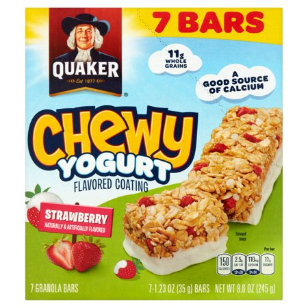 Quaker Chewy Yogurt Strawberry Granola Bars  1 23 Oz  7 Count