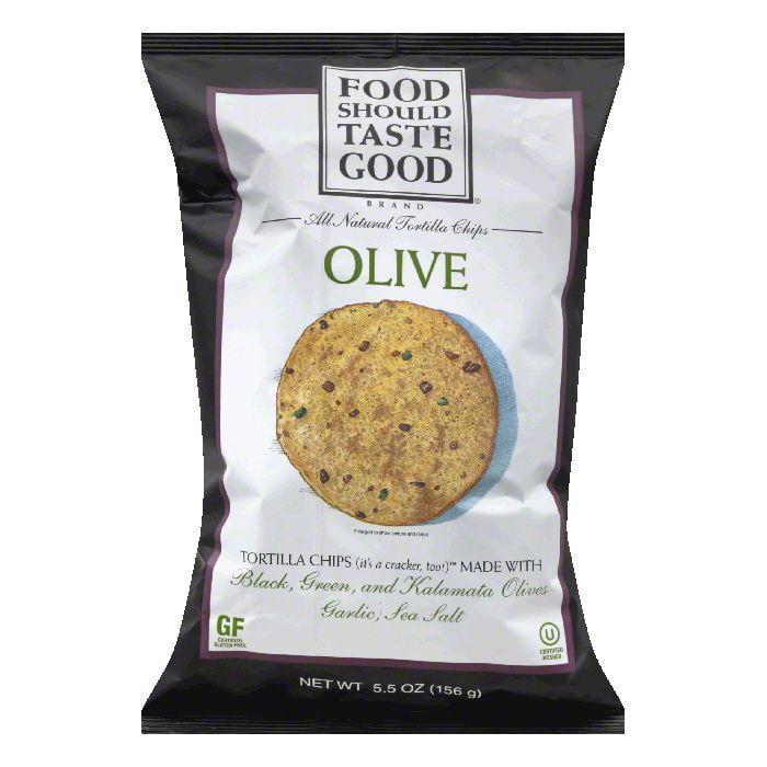 Food Should Taste Good Olive Oil Tortilla Chips, 5.5 OZ (...